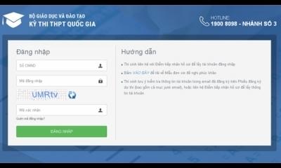 Bộ GD-ĐT Lưu ý thí sinh sử dụng tài khoản đăng nhập phần mềm quản lý thi
