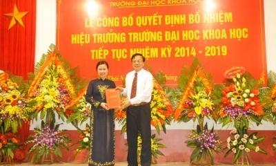 Bổ nhiệm GS. TS Lê Thị Thanh Nhàn giữ chức Hiệu trưởng Trường Đại học Khoa học tiếp tục nhiệm kỳ 2014 – 2019