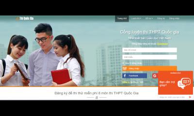 Cổng luyện thi THPT quốc gia hữu ích cho thí sinh